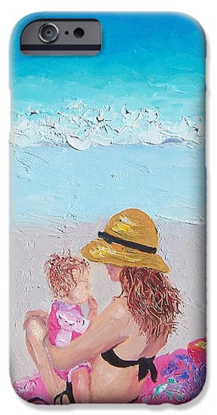 Daughter Gift iPhone Cases - Soaking up the Sun iPhone Case by Jan Matson