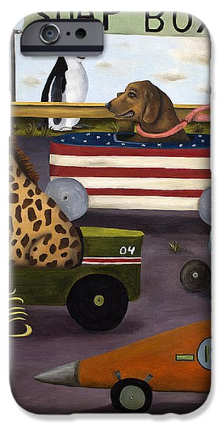 Soap Box Derby iPhone Case by Leah Saulnier The Painting Maniac