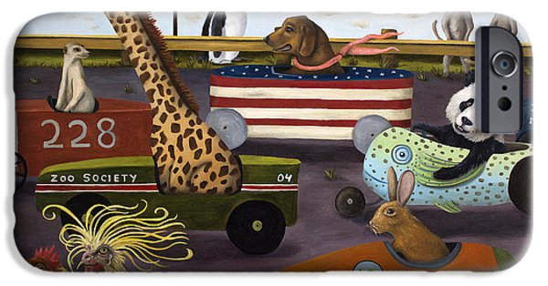 Drag iPhone Cases - Soap Box Derby iPhone Case by Leah Saulnier The Painting Maniac