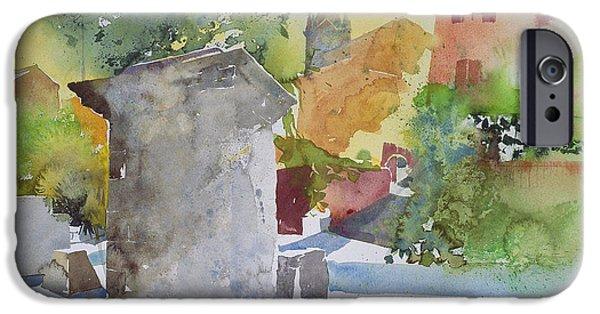 Provence Village iPhone Cases - Socle a Villars iPhone Case by Simon Fletcher