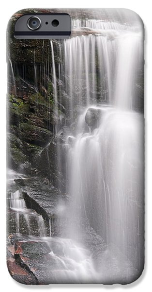 Blue Ridge Parkway iPhone Cases - Soco Falls North Carolina iPhone Case by Steve Gadomski