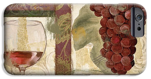 Italian Wine Paintings iPhone Cases - Sofia I iPhone Case by Mindy Sommers
