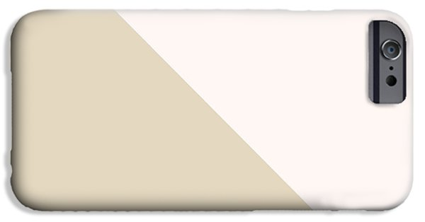 Geometric Shape iPhone Cases - Soft Blush and Champagne iPhone Case by Linda Woods