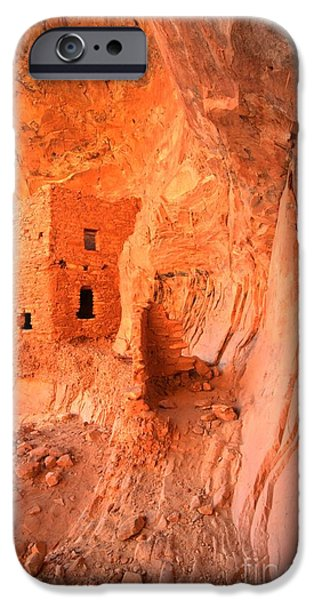 Overhang iPhone Cases - Soft Glow On Tower House iPhone Case by Adam Jewell