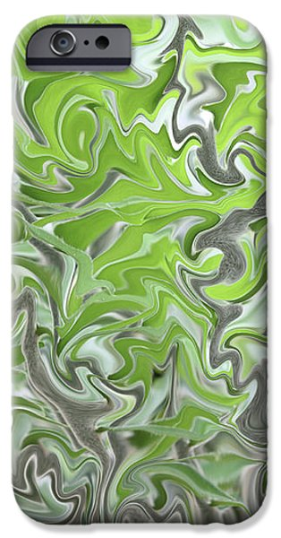 Soft Green and Gray Abstract iPhone Case by Carol Groenen