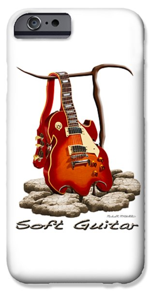 Shirt Digital iPhone Cases - Soft Guitar - 3 iPhone Case by Mike McGlothlen