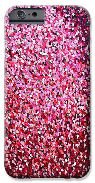 Abstract Expressionist iPhone Cases - Soft Red Trust iPhone Case by Dean Triolo