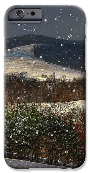 Soft Sifting Christmas Card iPhone Case by Lois Bryan