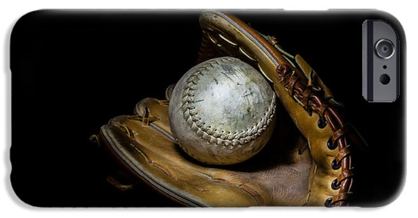 Baseball Glove iPhone Cases - Softball and Glove iPhone Case by Erin Cadigan