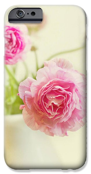 Pink Photographs iPhone Cases - Softly iPhone Case by Rebecca Cozart