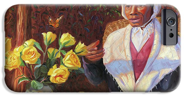 Slave Paintings iPhone Cases - Sojourner Truth iPhone Case by Steve Simon