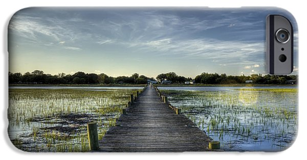 Beach Landscape Digital iPhone Cases - Sol Legare Dock Charleston SC iPhone Case by Dustin K Ryan
