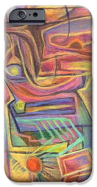 Abstract Expressionist Pastels iPhone Cases - Solar Fetish iPhone Case by Tom Kecskemeti