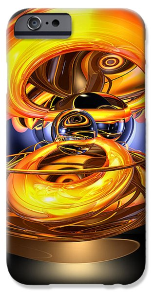 """digital Abstract"" iPhone Cases - Solar Flare Abstract iPhone Case by Alexander Butler"