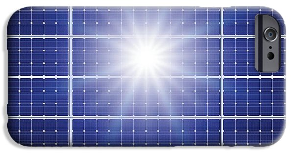 Electrical iPhone Cases - Solar Panels In The Sun iPhone Case by Detlev Van Ravenswaay