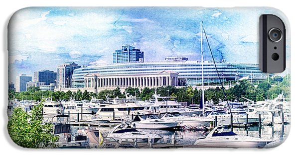 Soldier Field iPhone Cases - Soldier Field iPhone Case by Joel Witmeyer