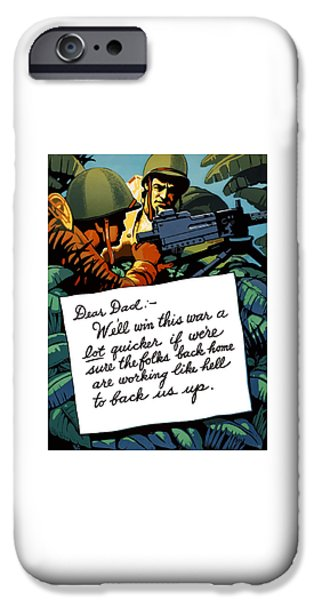 Ww1 iPhone Cases - Soldiers Letter Home To Dad -- WW2 Propaganda iPhone Case by War Is Hell Store