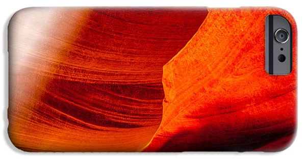 Rock Formation iPhone Cases - Solitary Beam iPhone Case by Az Jackson