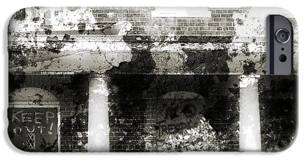Haunted House iPhone Cases - Solitary iPhone Case by Richard Rizzo