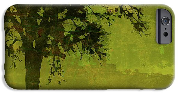 Tree Print Digital iPhone Cases - Solitude iPhone Case by Bonnie Bruno