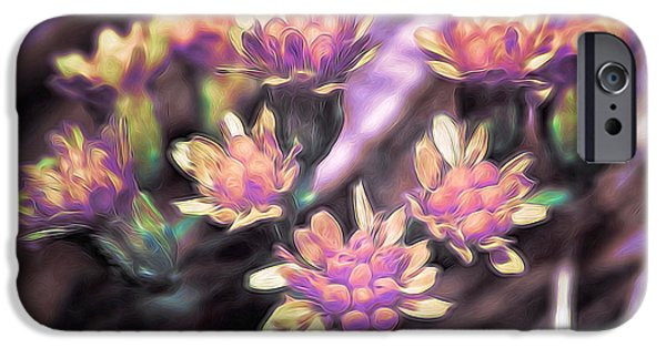 Nature Abstracts Pyrography iPhone Cases - Sollus iPhone Case by David Dominguez