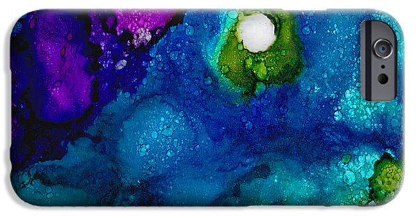 Prismatic Paintings iPhone Cases - Solo in the Stream iPhone Case by Angela Treat Lyon