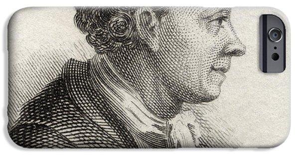 Swiss Drawings iPhone Cases - Solomon Gessner,1730 To 1788. Swiss iPhone Case by Ken Welsh