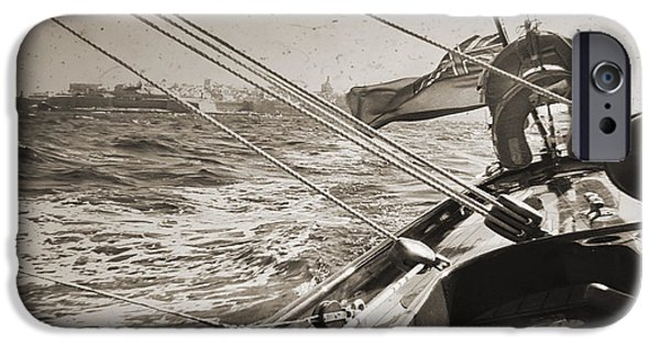 Sailboat iPhone Cases - Solway Maid leaving Malta iPhone Case by Dustin K Ryan