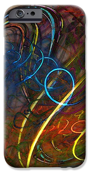 Contemplative iPhone Cases - Some Critical Remarks Abstract Art iPhone Case by Karin Kuhlmann
