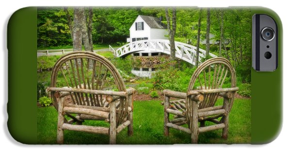 Down East iPhone Cases - Somesville Maine - Arched bridge iPhone Case by Thomas Schoeller