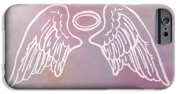 Religious Drawings iPhone Cases - Something Heavenly iPhone Case by Jilian Cramb