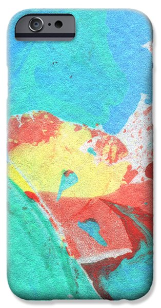 Marble iPhone Cases - Somewhere New 3- Abstract Art by Linda Woods iPhone Case by Linda Woods