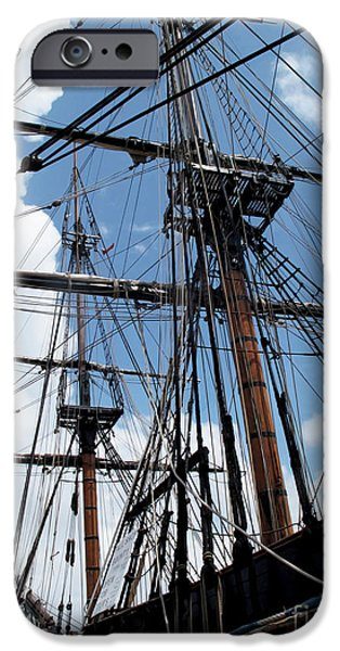 Recently Sold -  - Pirate Ships iPhone Cases - Son of a Son of a Sailor Quote - Tribute To The Bounty iPhone Case by Joan  Minchak