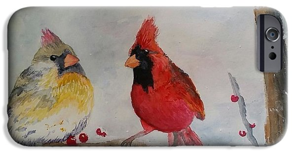 Berry iPhone Cases - Songbirds iPhone Case by Mary Lynn Smith