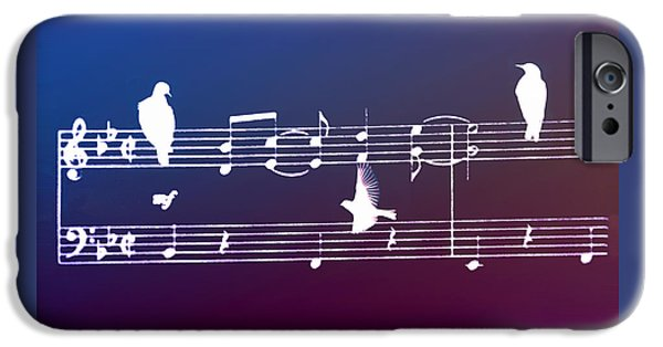 Sheets iPhone Cases - Songbirds - White iPhone Case by Bill Cannon