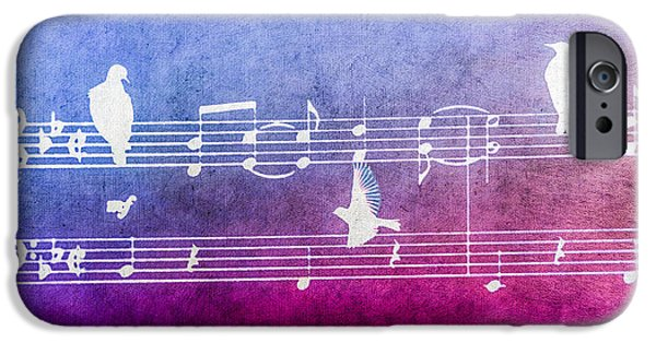Sheets iPhone Cases - Songbirds - White Textured iPhone Case by Bill Cannon