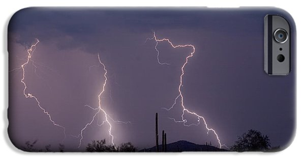 Lightning Images iPhone Cases - Sonoran Storm iPhone Case by James BO  Insogna