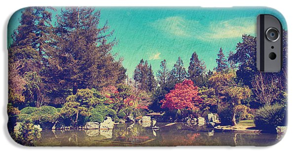 Garden Digital Art iPhone Cases - Soothes the Soul iPhone Case by Laurie Search