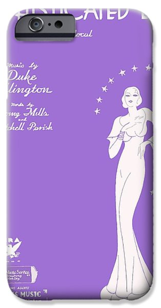 Sheets iPhone Cases - Sophisticated Lady sheet music art iPhone Case by Barbie Corbett-Newmin