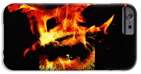 Model iPhone Cases - Soul on fire iPhone Case by Frances Lewis