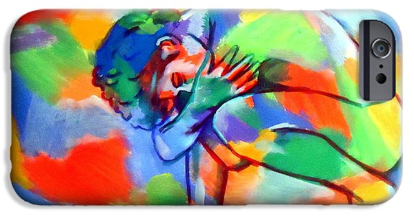 Figures iPhone Cases - Soulful cries iPhone Case by Helena Wierzbicki