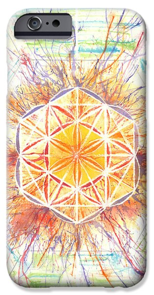 Flower Of Life iPhone Cases - Source Transcends Barriers iPhone Case by Anthony Tarazoff