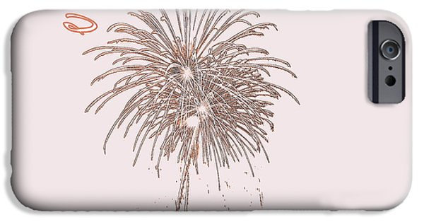 4th July iPhone Cases - South Carolina Fireworks iPhone Case by Lisa Wooten