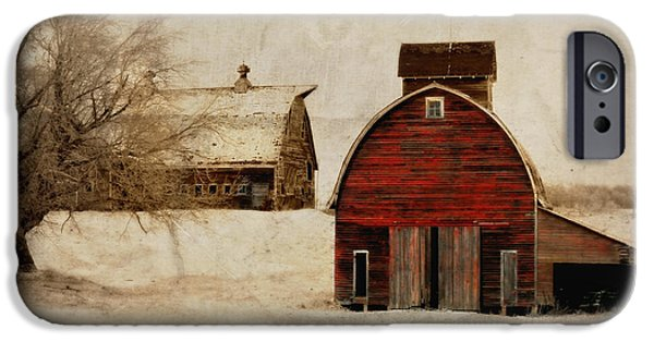 Barns Digital Art iPhone Cases - South Dakota Corn Crib iPhone Case by Julie Hamilton