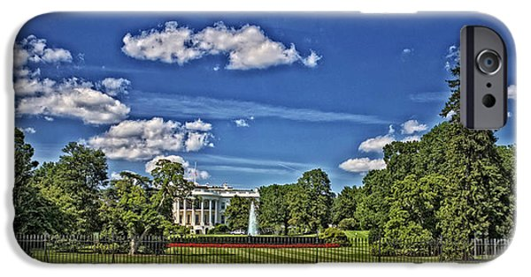 President iPhone Cases - South Lawn in HDR iPhone Case by David Bearden