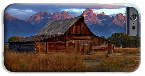 Old Barn iPhone Cases - T A Moulton Barn Grand Tetons iPhone Case by Gary Langley