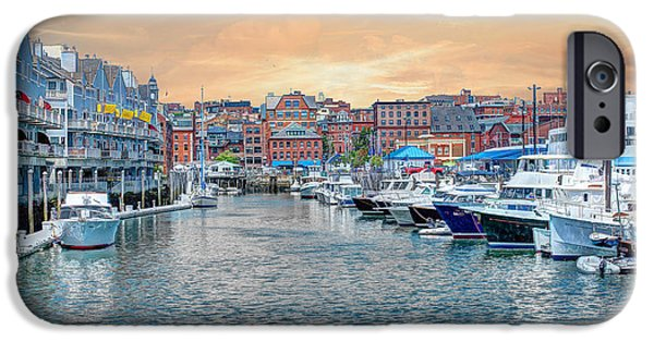 Recently Sold -  - Maine iPhone Cases - South Portland Harbor Maine Sunset iPhone Case by Joe Granita