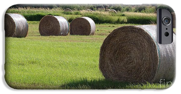 Haybale iPhone Cases - Southeast iPhone Case by Rod  Giffels