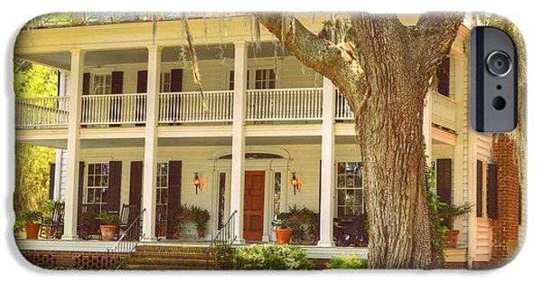 Balcony iPhone Cases - Southern architecture iPhone Case by Linda Covino