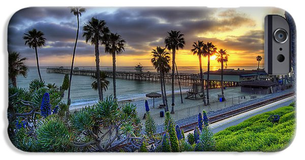 California Beach iPhone Cases - Southern California Sunset iPhone Case by Sean Foster